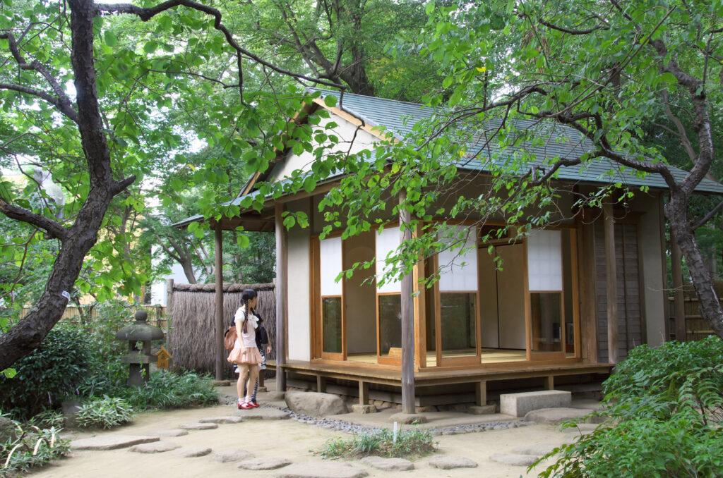 吉祥寺 井の頭自然文化園 童心居の建物、野口雨情の書斎を移築