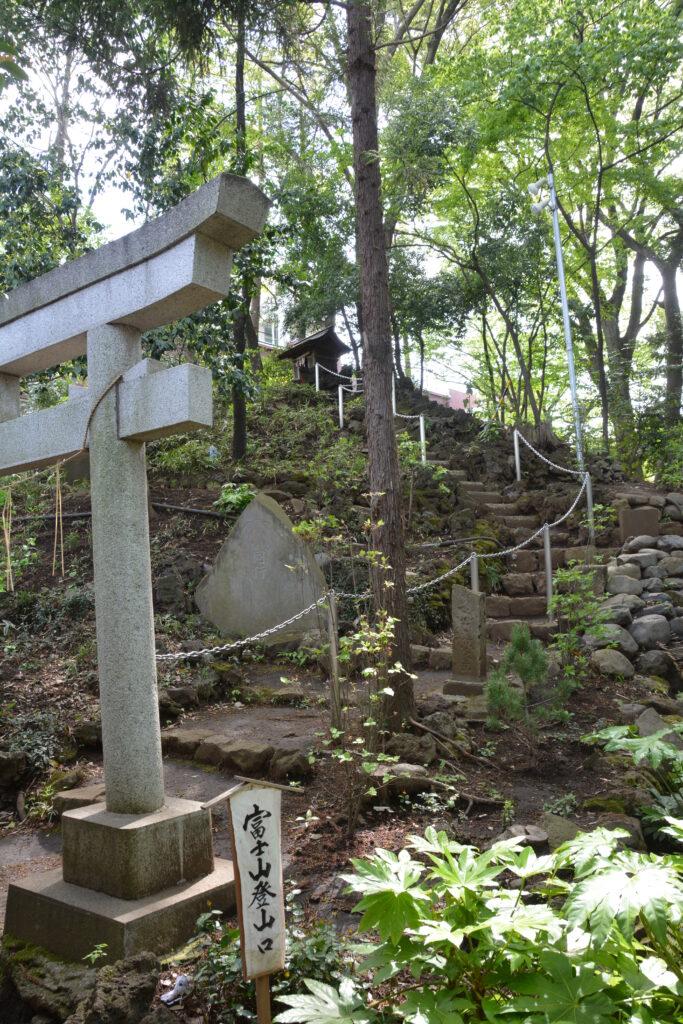 武蔵野市 杵築大社の富士山